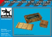 F32127 1/32 WW II Luftwaffe bomb Sc 50+crate box  N°2
