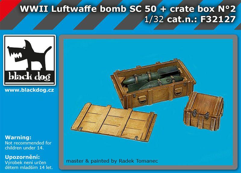 F32127 1/32 WW II Luftwaffe bomb Sc 50+crate box N°2 Blackdog