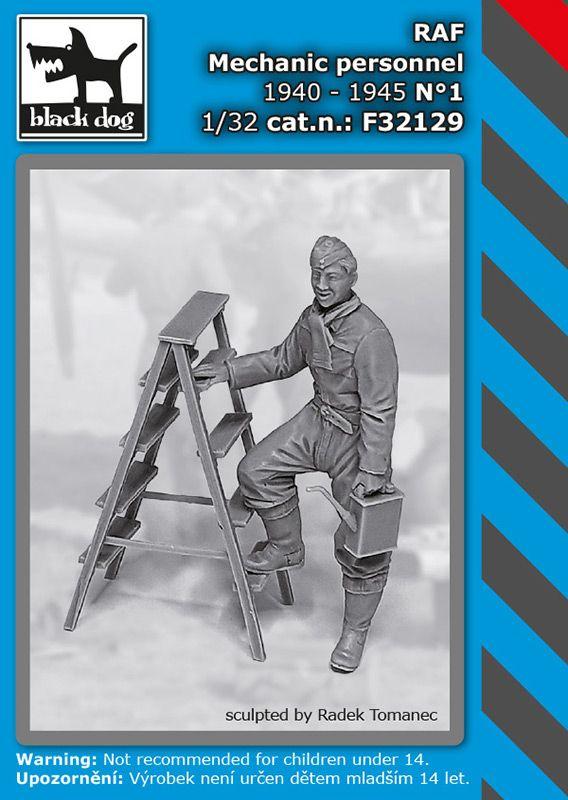 F32129 1/32 RAF mechanic personnel 1940-45 N°1 Blackdog