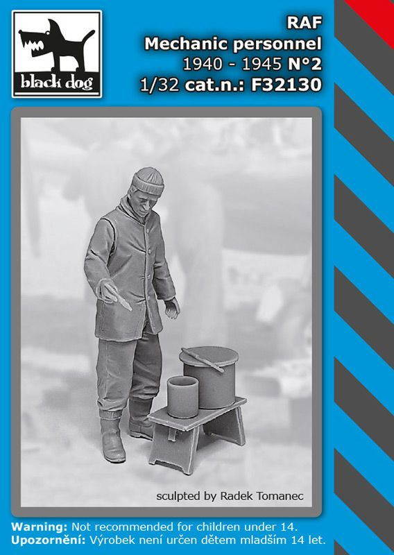 F32130 1/32 RAF mechanic personnel1940-45 N°2 Blackdog
