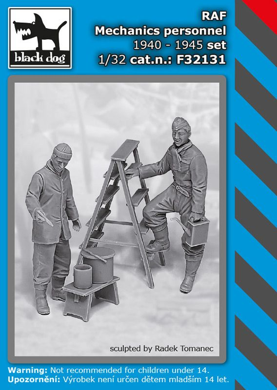 F32131 1/32 RAF mechanics personnel 1940-45 set Blackdog