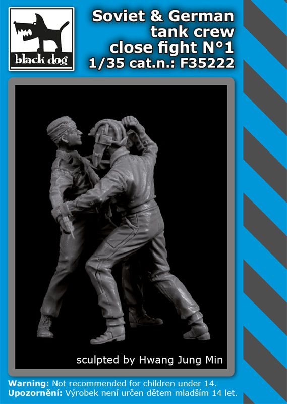 F35222 1/35 Soviet + German tank crew close fight N°1 Blackdog
