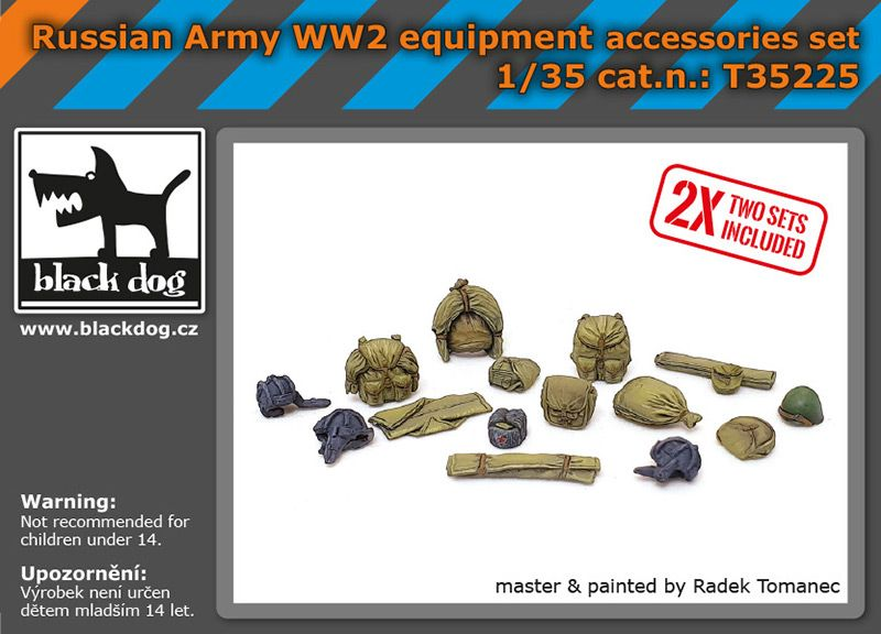 T35225 1/35 Russian Army WW2 equipment accessories set Blackdog