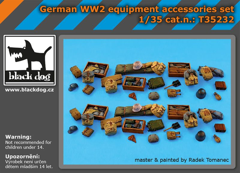 T35232 1/35 German WW 2 equipment accessories set Blackdog