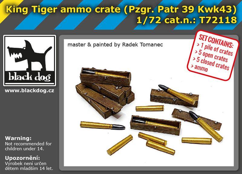 T72118 1/72 King tiger ammo crate Blackdog
