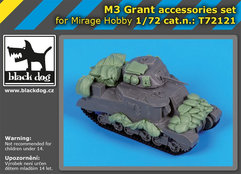 T72121 1/72 M 3 Grant accessories set Blackdog
