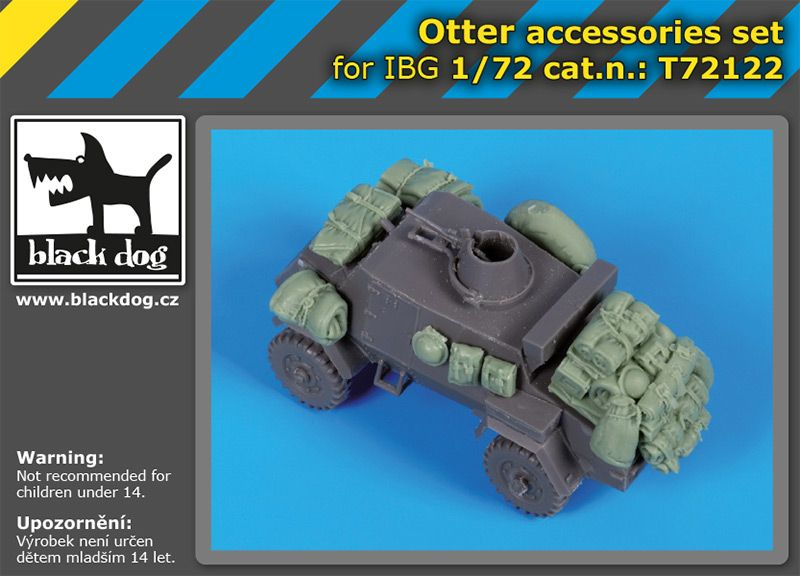 T72122 1/72 Otter accessories set Blackdog