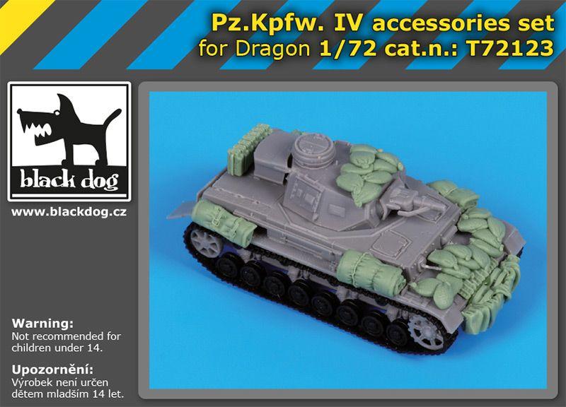 T72123 1/72 Pz.Kpfw IV accessories set Blackdog