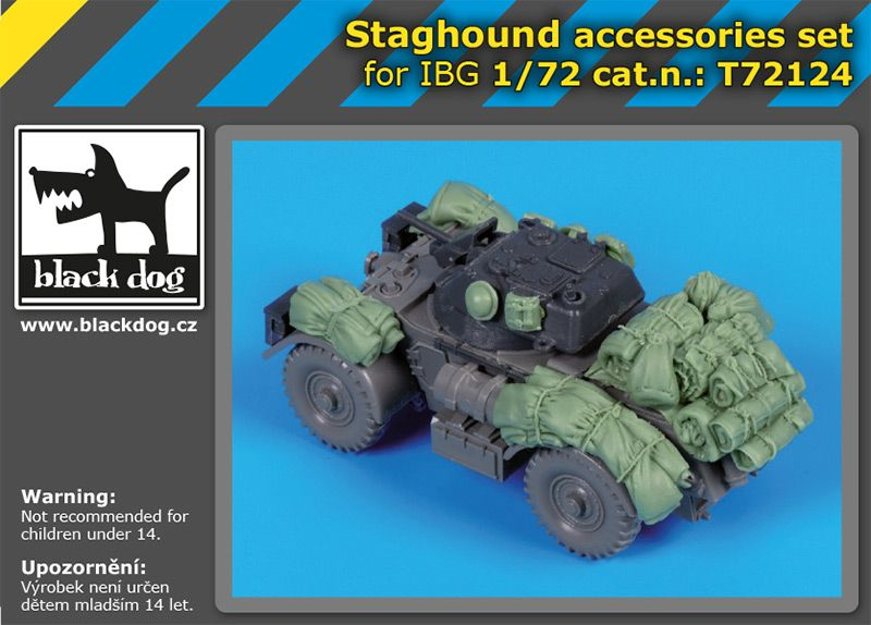 T72124 1/72 Staghound accessories set Blackdog