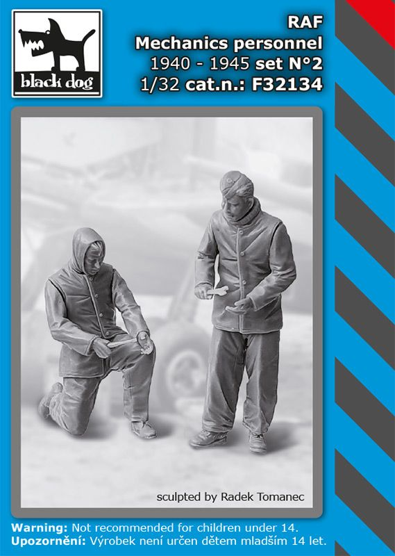 F32134 1/32 RAF mechanics personnel 1940-45 set N°2 Blackdog