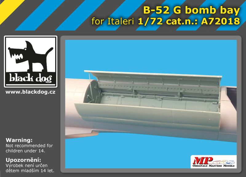 A72018 1/72 B-52 G bomb bay Blackdog