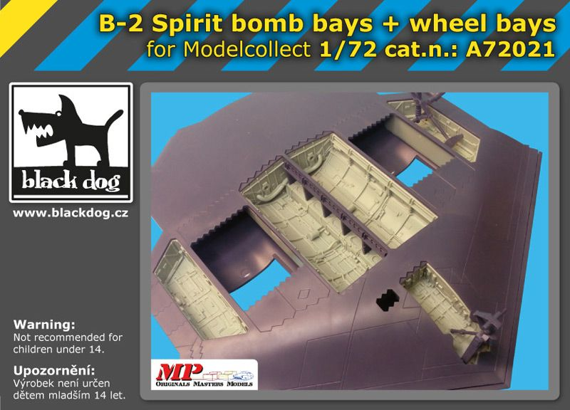 A72021 1/72 B-2 Spirit bomb bay+wheel bays Blackdog