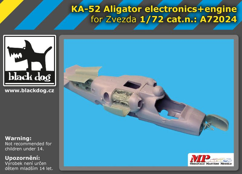 A72024 1/72 Ka-52 Aligator electronic+engine Blackdog