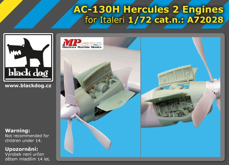 A72028 1/72 AC-130 H Hercules 2 engines Blackdog