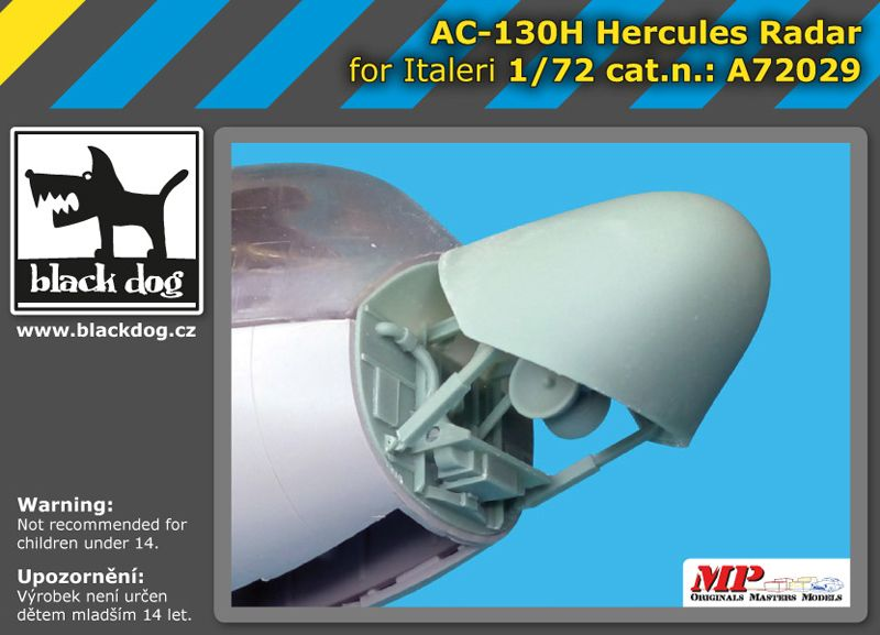 A72029 1/72 AC-130 H Hercules radar Blackdog