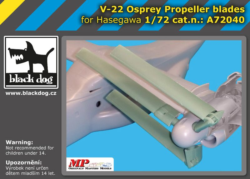 A72040 1/72 V-22 Osprey propeller blades Blackdog