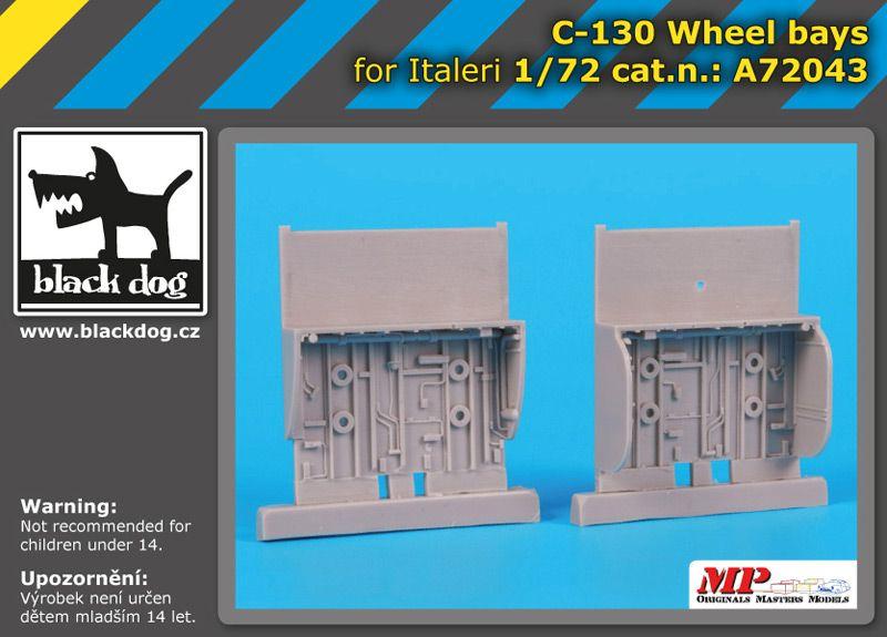 A72043 1/72 C-130 wheel bays Blackdog