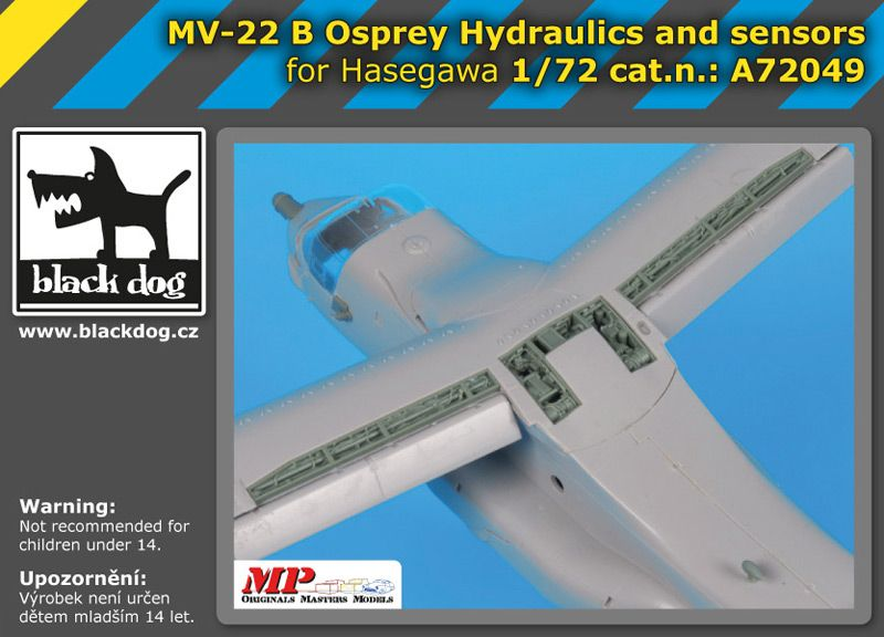A72049 1/72 MV- 22B Osprey Hydraulics and sensors Blackdog