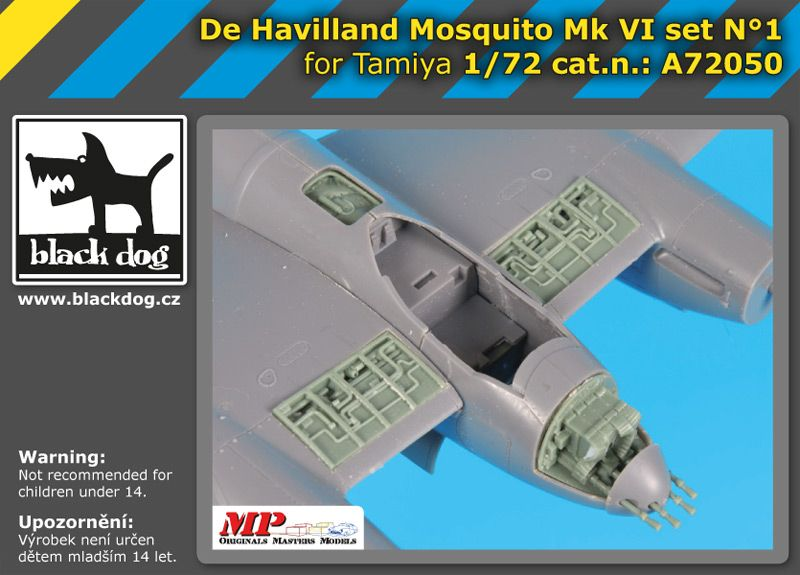 A72050 1/72 De Havilland Mosquito Mk VI set N°1 Blackdog