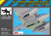 A72051 1/72 De Havilland Mosquito Mk VI set N°2 Blackdog