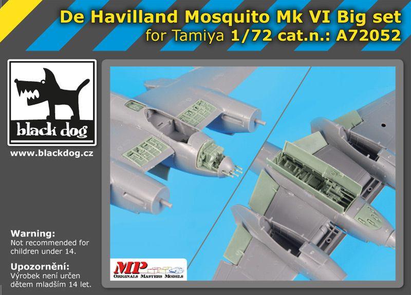 A72052 1/72 De Havilland Mosquito Mk VI Big set Blackdog