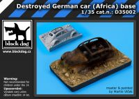 D35002 1/35 Destroyed german car Afrika base