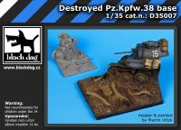 D35007 1/35 Destroyed Pz.Kpfw 38 base