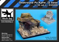 D35008 1/35 Destroyed Pz.Kpfw II base Blackdog