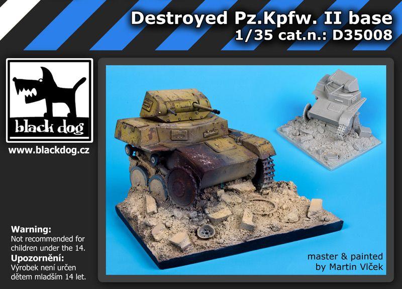 D35008 1/35 Destroyed Pz.Kpfw II base Blackdog