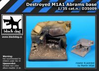 D35009 1/35 Destroyed M1A1 Abrams base