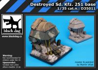 D35011 1/35 Destroyed Sd.Kfz.251 base