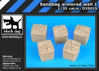 D35015 1/35 Sandbag armored wall 1