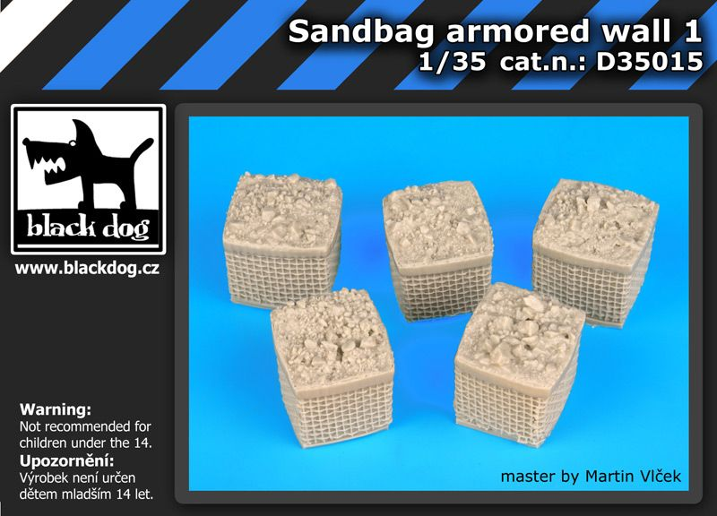 D35015 1/35 Sandbag armored wall 1 Blackdog