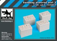 D35017 1/35 Sandbag armored wall 3