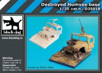 D35018 1/35 Destroyed Humvee base
