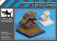 D35037 1/35 Destroyed Pz Kpfw IV base