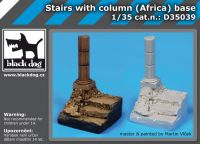 D35039 1/35 Stairs with column base