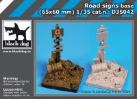 D35042 1/35 Road signs base Blackdog