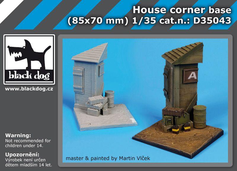 D35043 1/35 House corner base Blackdog