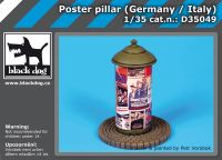 D35049 1/35 Poster pillar Germany-Italy