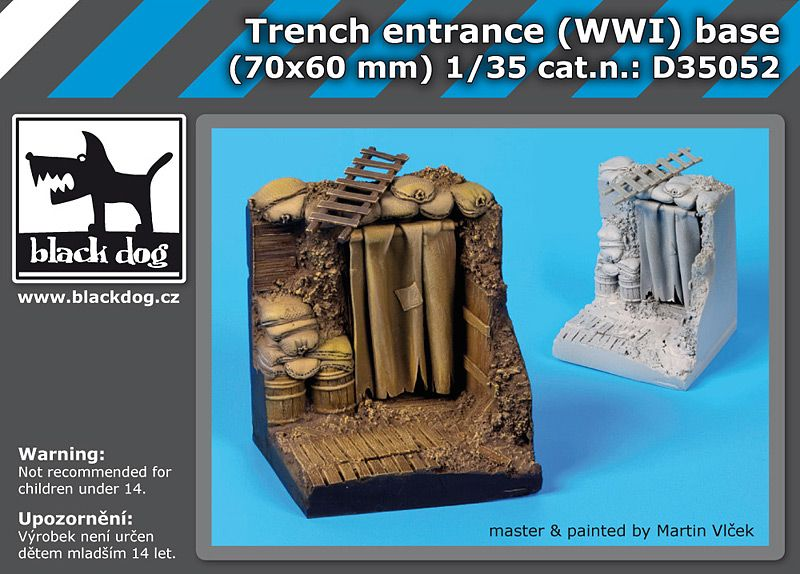 D35052 1/35 Trench entrance WW I base Blackdog