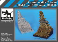 D35056 1/35 Ruined wall N Blackdog