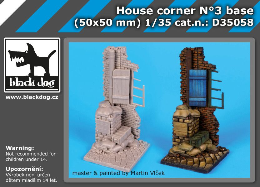 D35058 1/35 House corrner N Blackdog