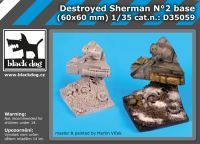 D35059 1/35 Destroyed Sherman N Blackdog