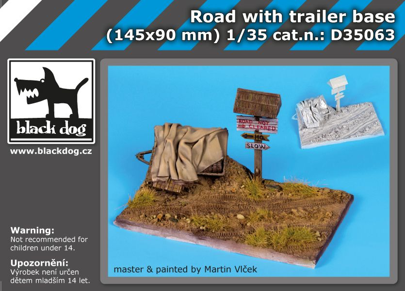 D35063 1/35 Road with trailer base Blackdog