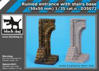 D35072 1/35 Ruined entrance with stairs base