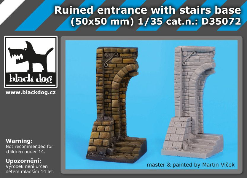 D35072 1/35 Ruined entrance with stairs base Blackdog