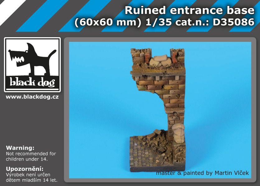 D35086 Ruined entrance base Blackdog