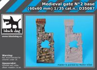 D35087 Medieval gate N°2 Blackdog