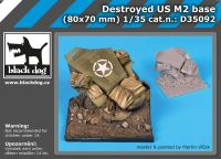 D35092 1/35 Destroyed US M2 base